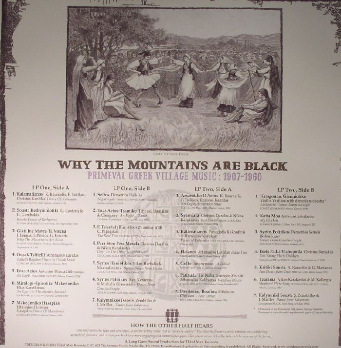VARIOUS - Why The Mountains Are Black: Primeval Greek Village Music: 1907-1960