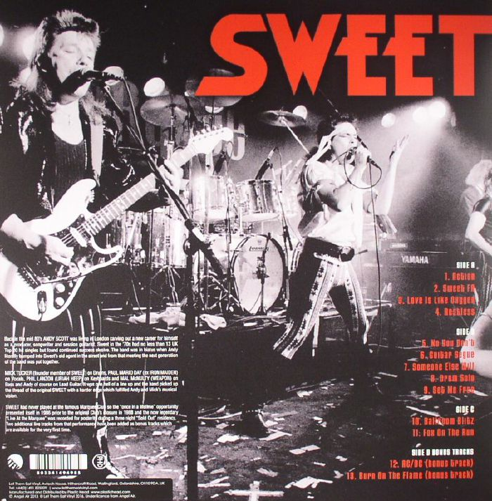 SWEET, The - Live At The Marquee 1986
