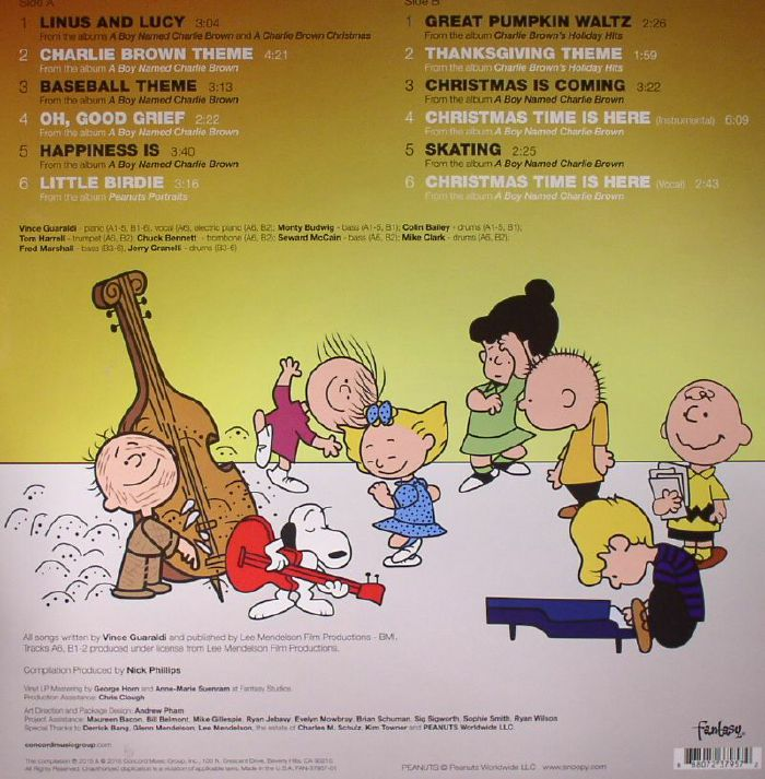 Vince Guaraldi Trio Peanuts Greatest Hits Vinyl
