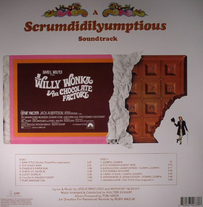 BRICUSSE, Leslie/ANTHONY NEWLEY - Willy Wonka & The Chocolate Factory (Soundtrack)