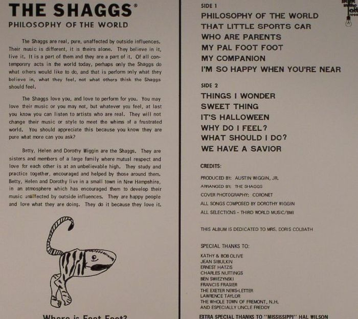 SHAGGS, The - Philosophy Of The World