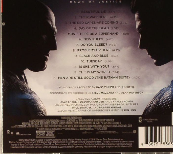 Hans Zimmer Junkie Xl Batman Vs Superman Dawn Of Justice
