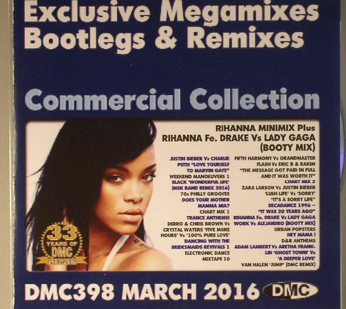 VARIOUS - DMC Commercial Collection 398 March 2016: Exclusive Megamixes Bootlegs & Remixes (Strictly DJ Only)