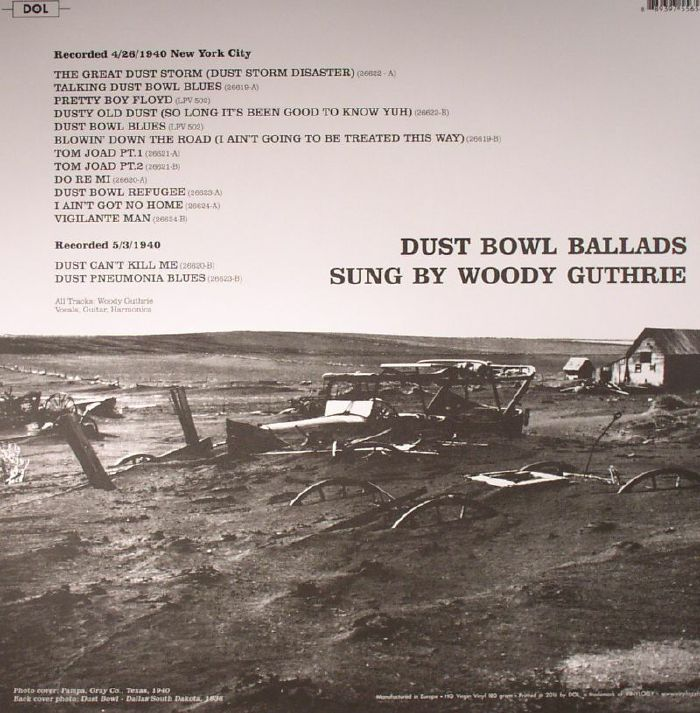 GUTHRIE, Woody - Dust Bowl Ballads