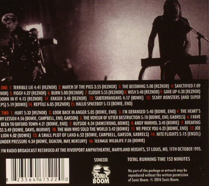 NINE INCH NAILS with DAVID BOWIE - Back In Anger: 1995 Radio Transmissions