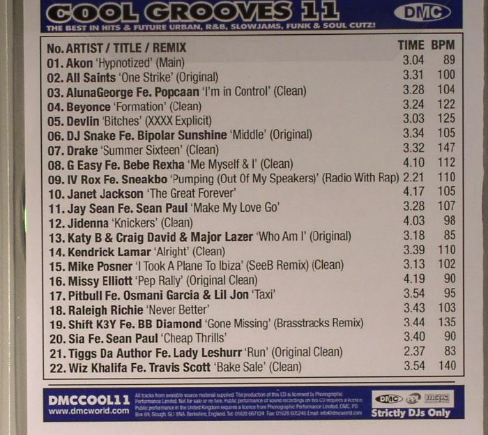 VARIOUS - Cool Grooves 11: The Best In Future Urban R&B Slowjams Funk & Soul Cutz! (Strictly DJ Only)