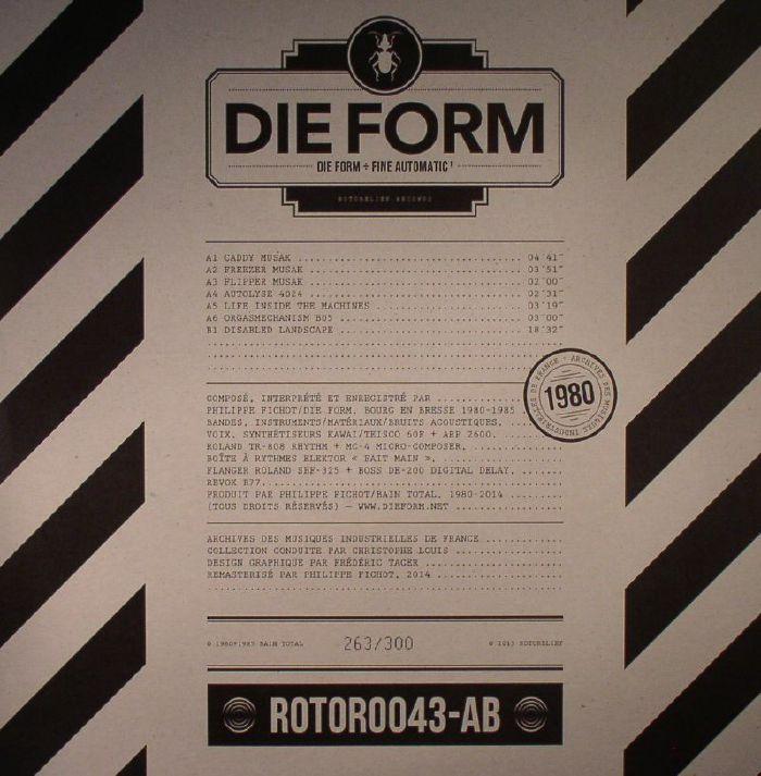 DIE FORM - Die Form: Fine Automatic 1
