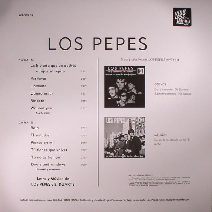 LOS PEPES Los Pepes (reissue) vinyl at Juno Records.