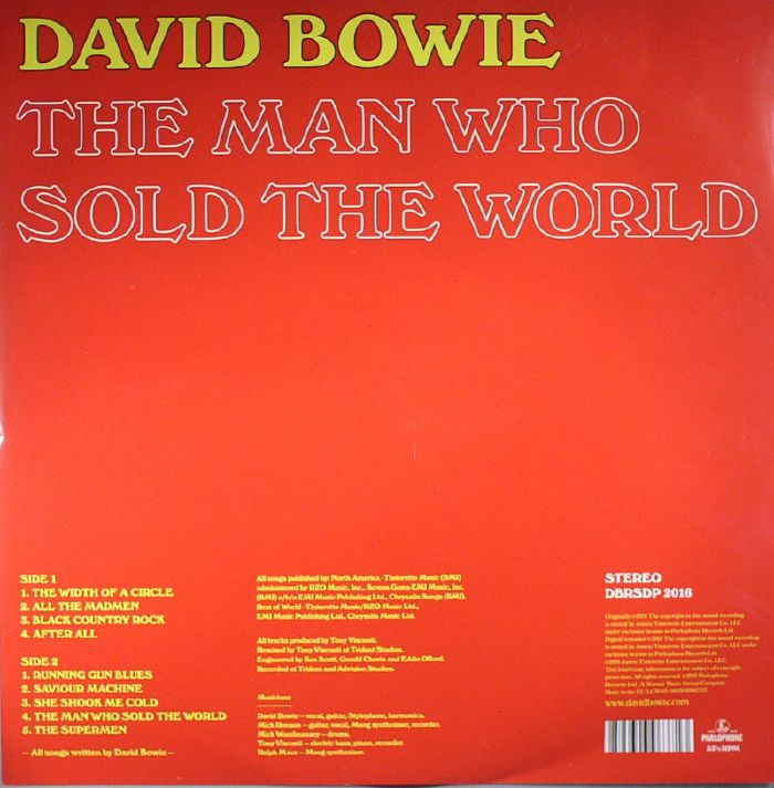 BOWIE, David - The Man Who Sold The World (Record Store Day 2016)