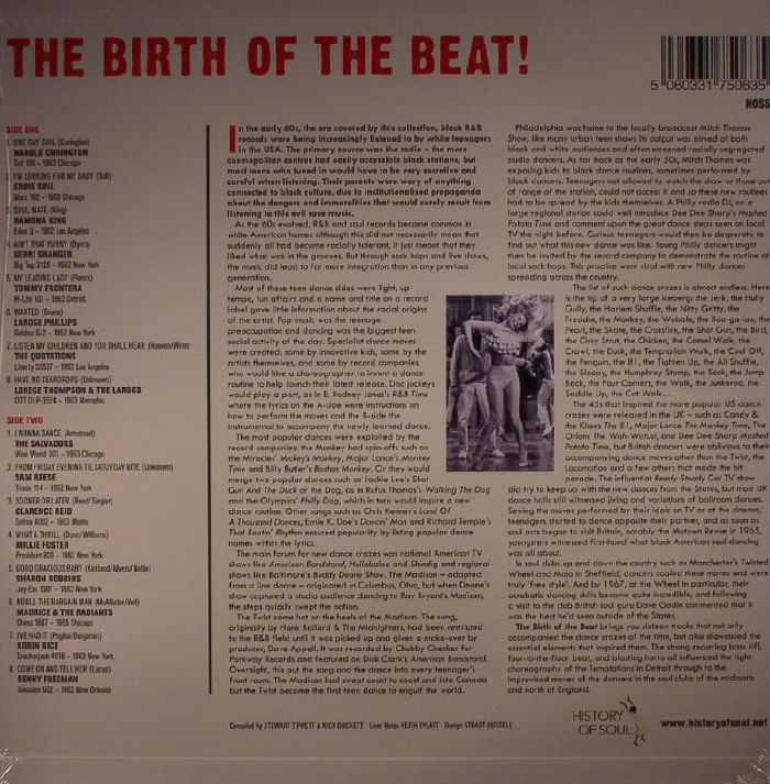 TIPPETT, Stewart/NICK DUCKETT/VARIOUS - The Birth Of The Beat!: Late Night Swinging Soul & Rockin' Blues 1962-1963 (Record Store Day 2016)