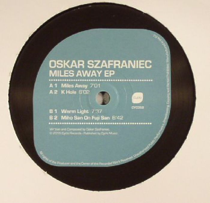SZAFRANIEC, Oskar - Miles Away EP