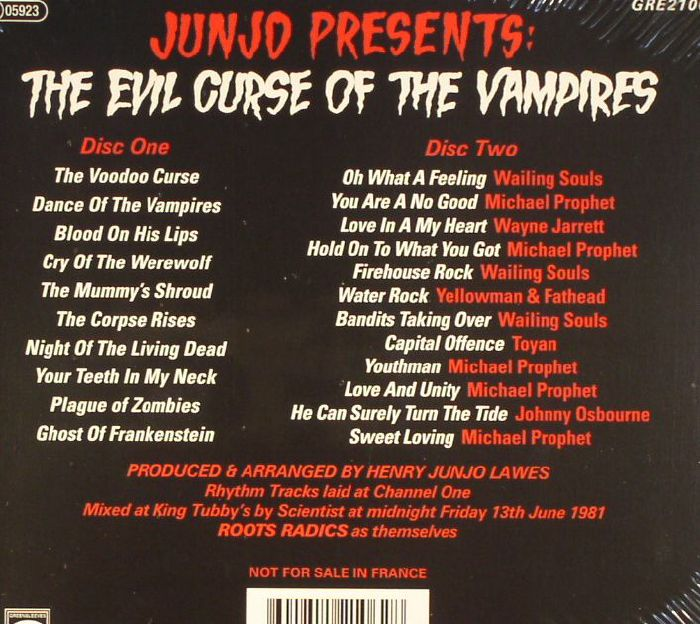 LAWES, Henry Junjo/VARIOUS - Junjo Presents: The Evil Curse Of The Vampires (remastered)