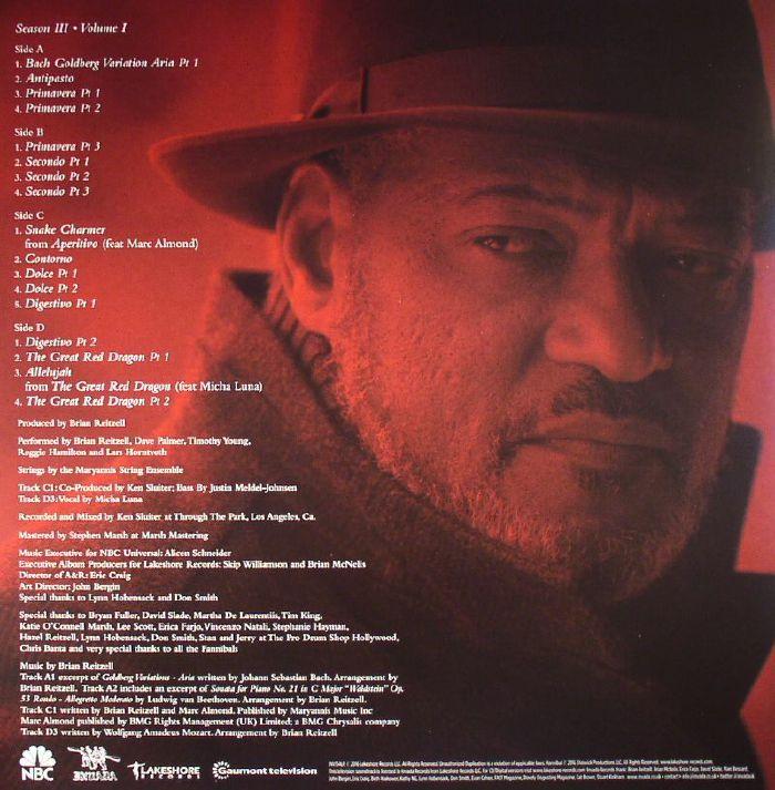 REITZELL, Brian - Hannibal Season 3 Volume 1 (Soundtrack)