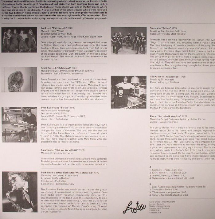 VARIOUS - Valgusesse: 8 Shiny Tracks From Estonian Radio Archive