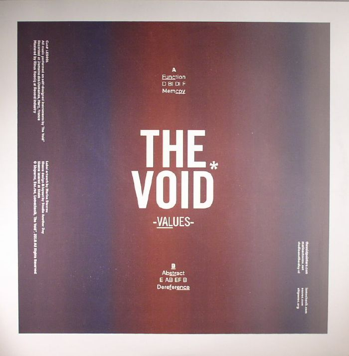 VOID POINTERS, The - Values