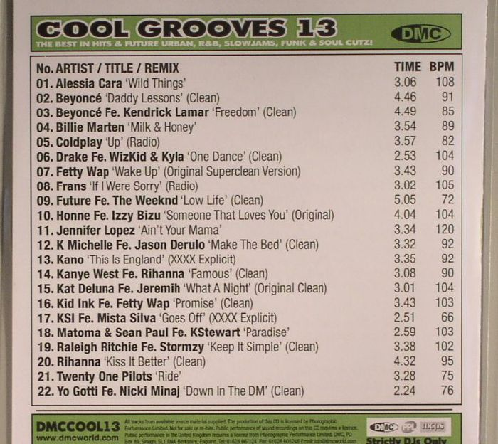VARIOUS - Cool Grooves 13: The Best In Future Urban R&B Slowjams Funk & Soul Cutz! (Strictly DJ Only)