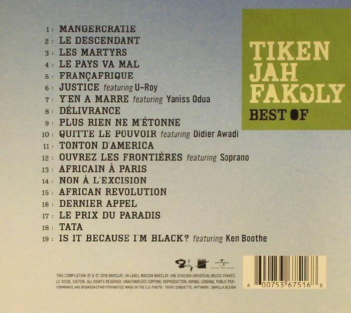 Tiken Jah Fakoly Best Of Vinyl At Juno Records