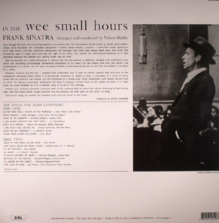 Frank Sinatra In The Wee Small Hours Vinyl At Juno Records