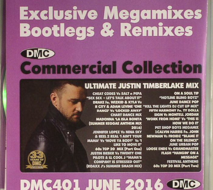 VARIOUS - DMC Commercial Collection June 2016: Exclusive Megamixes Bootlegs & Remixes (Strictly DJ Only)