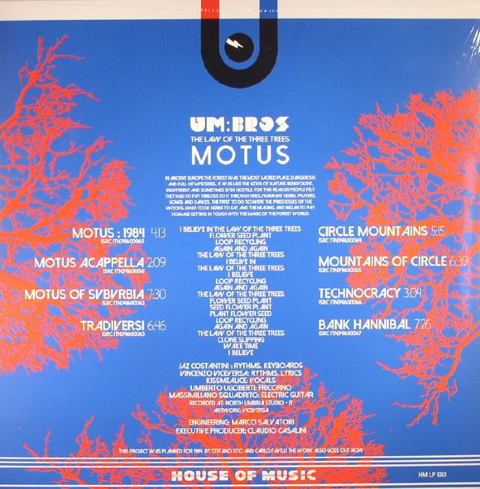 UM BROS - The Law Of The Three Trees: Motus