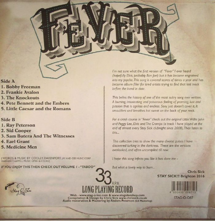 VARIOUS - Fever: Journey To The Center Of A Song: An Exploration Into The Seductive World Of Fever Volume 2)