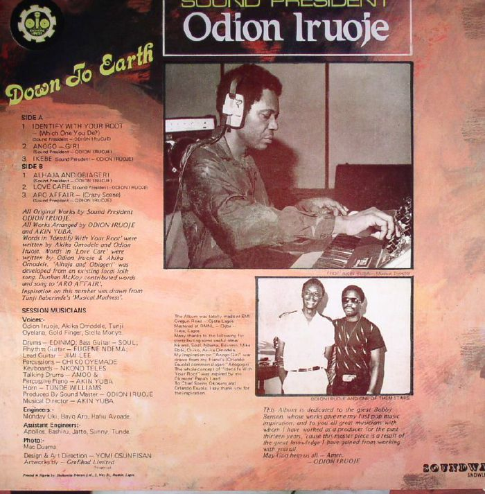 IRUOJE, Odion - Down To Earth