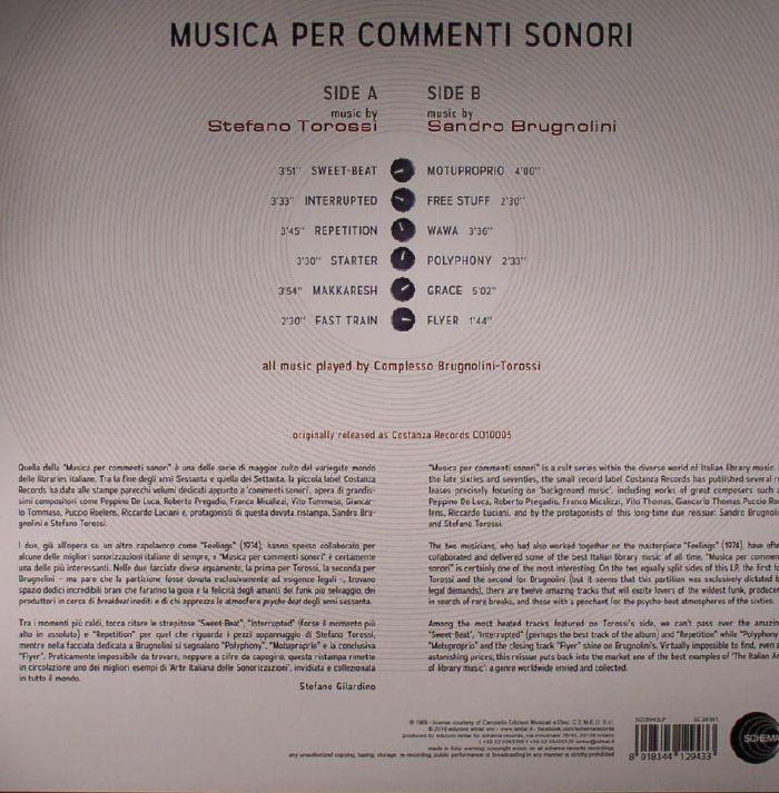 TOROSSI, Stefano/SANDRO BRUGNOLINI - Musica Per Commenti Sonori
