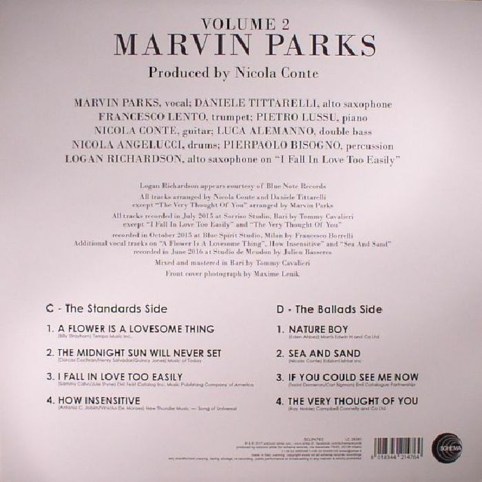 PARKS, Marvin - Marvin Parks Volume 1 & 2 (Special Double Package Edition)
