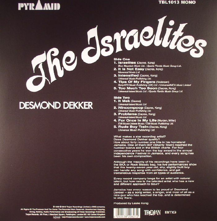 DEKKER, Desmond - The Israelites