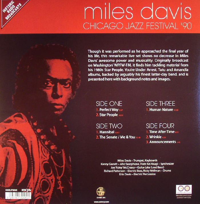 DAVIS, Miles - Chicago Jazz Festival '90