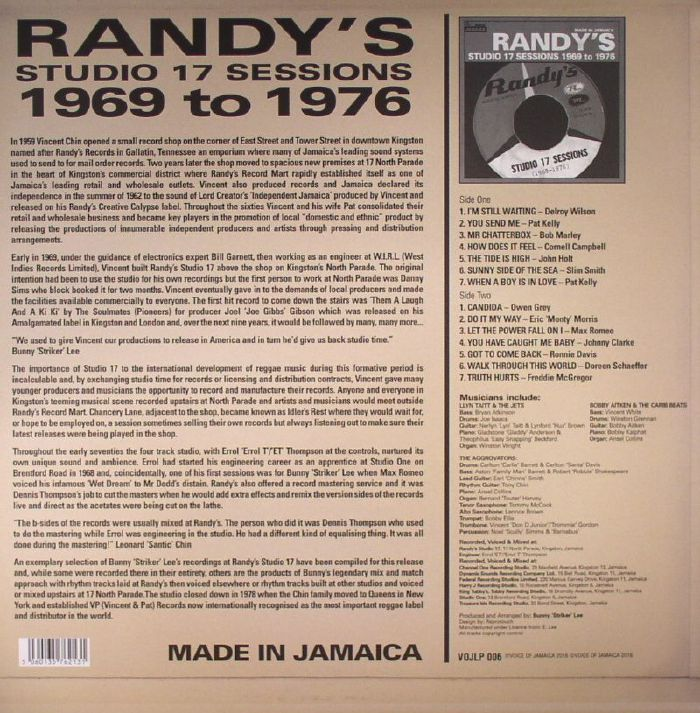 VARIOUS - Randy's Studio 17 Sessions 1969-1976