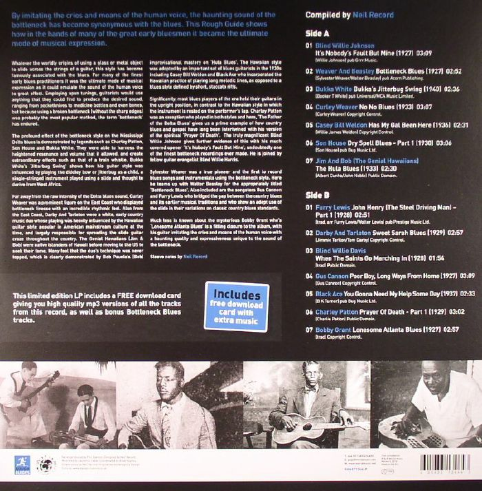 VARIOUS - The Rough Guide To Bottleneck Blues