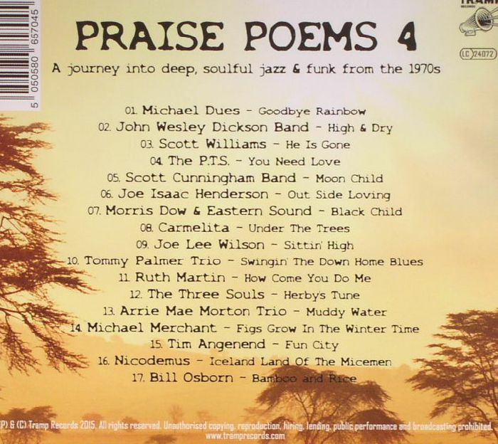 VARIOUS - Praise Poems Volume 4: A Journey Into Deep Soulful Jazz & Funk From The 1970s