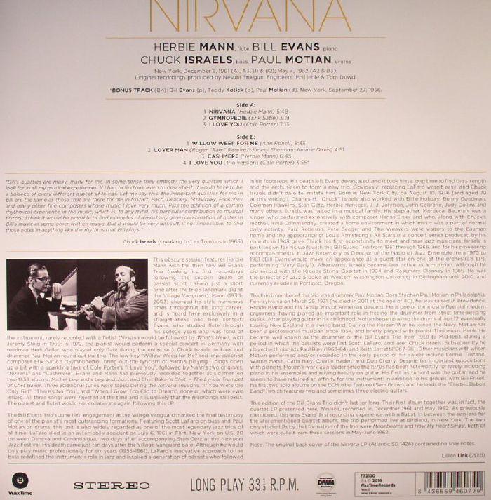 EVANS, Bill/HERBIE MANN - Nirvana