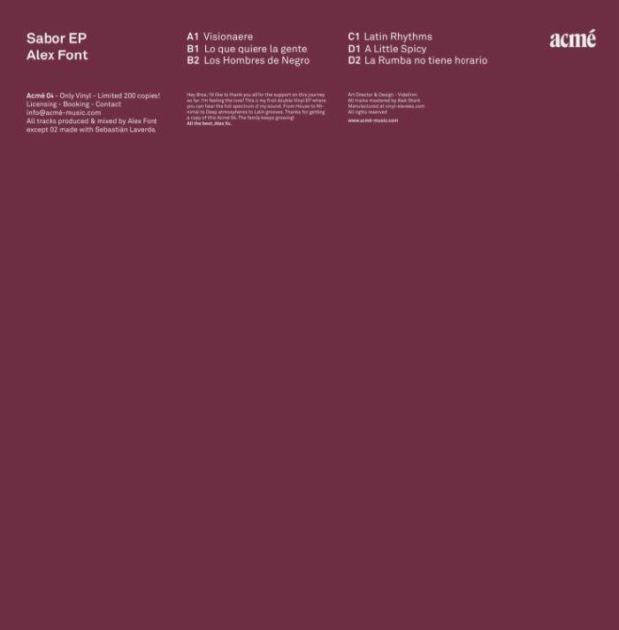 FONT, Alex - Sabor EP