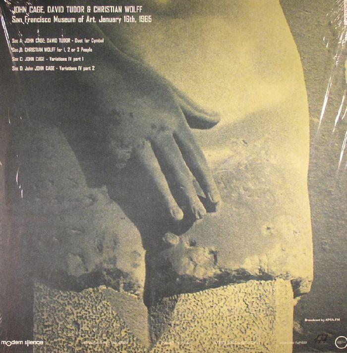 CAGE, John/DAVID TUDOR/CHRISTIAN WOLFF - San Francisco Museum Of Art 1965