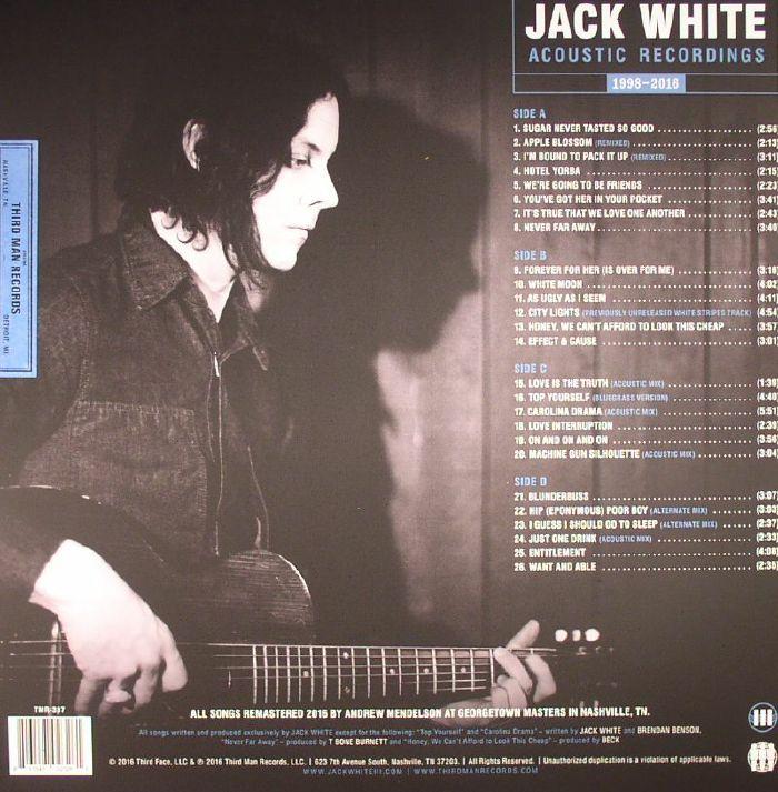 WHITE, Jack - Acoustic Recordings 1998-2016