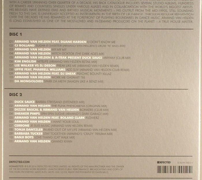 VAN HELDEN, Armand/VARIOUS - Defected Presents House Masters: Armand Van Helden