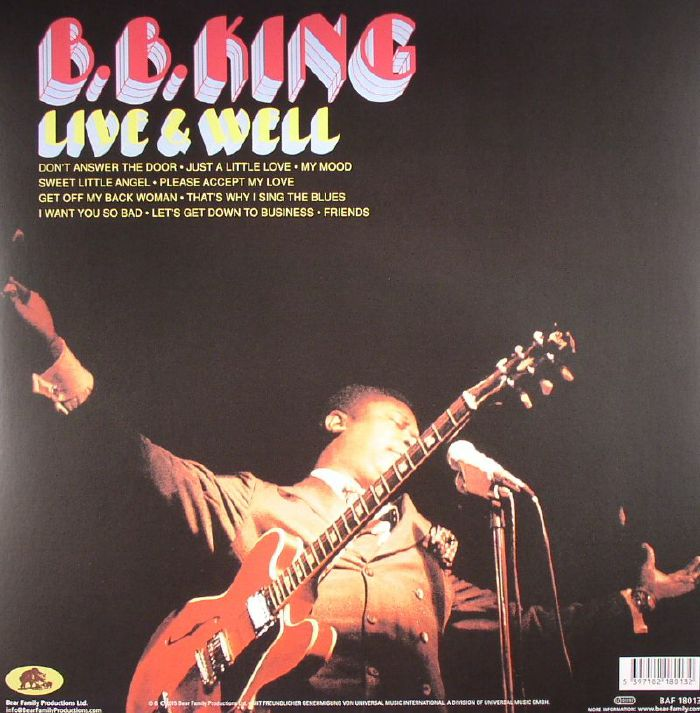 BB KING Live & Well Vinyl At Juno Records