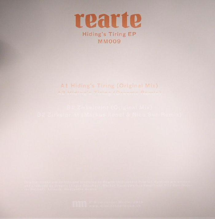 REARTE - Hiding's Tiring EP