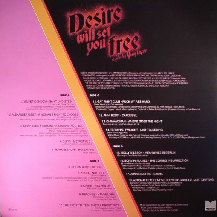 VARIOUS - Desire Will Set You Free (Soundtrack)