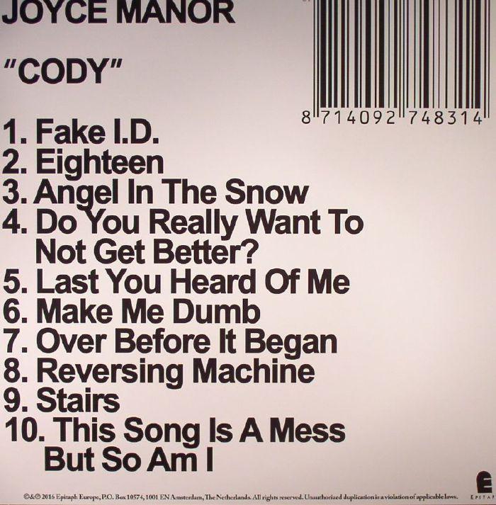 Joyce Manor Cody Vinyl At Juno Records