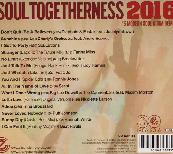 VARIOUS - Soul Togetherness 2016