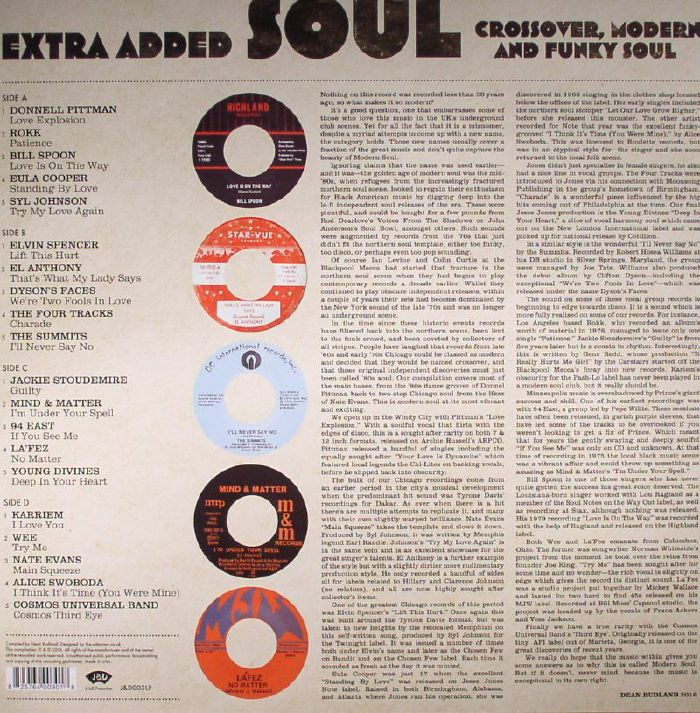 VARIOUS - Extra Added Soul: Crossover, Modern & Funky Soul