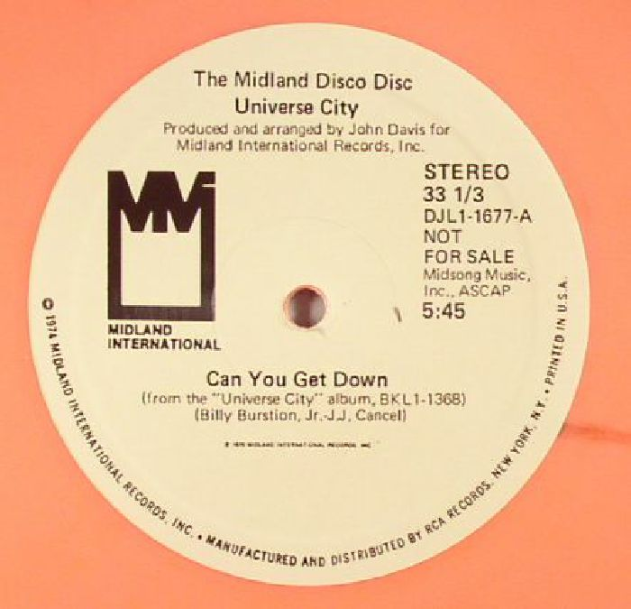 UNIVERSE CITY - Can You Get Down