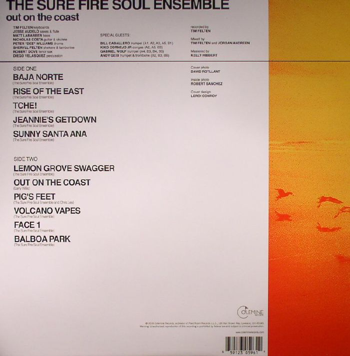 The Sure Fire Soul Ensemble Out On The Coast Vinyl At Juno