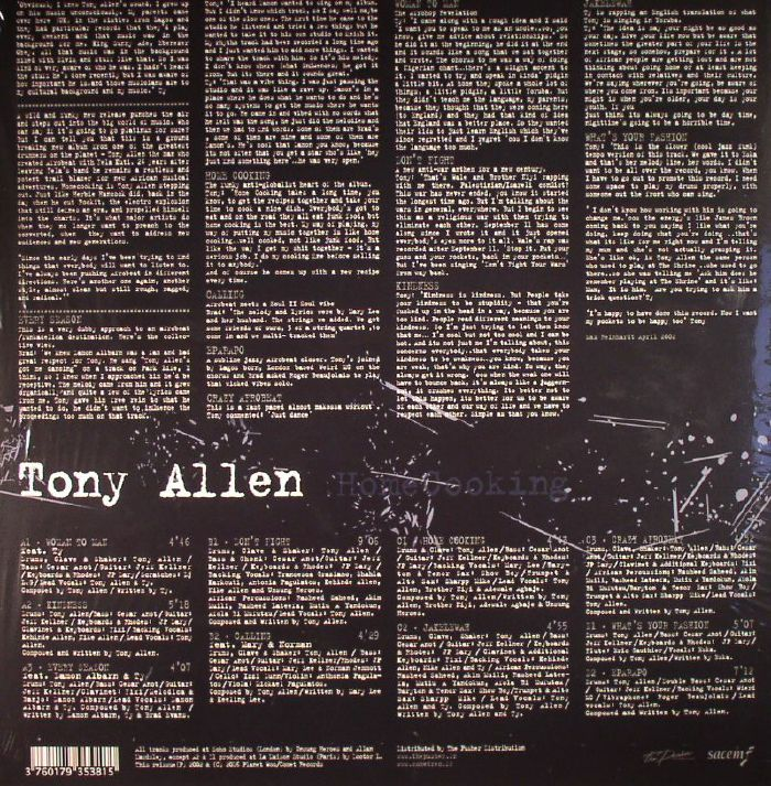 ALLEN, Tony - Homecooking (reissue)