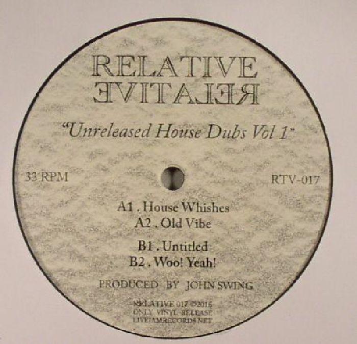 SWING, John - Unreleased House Dubs Vol 1