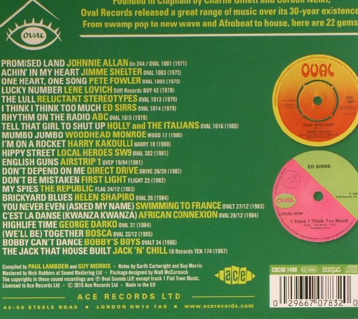 VARIOUS - Rhythm On The Radio: Oval Records Singles 1974-1987