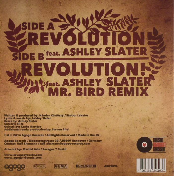 SAVAGES Y SUEFO feat ASHLEY SLATER - Revolution
